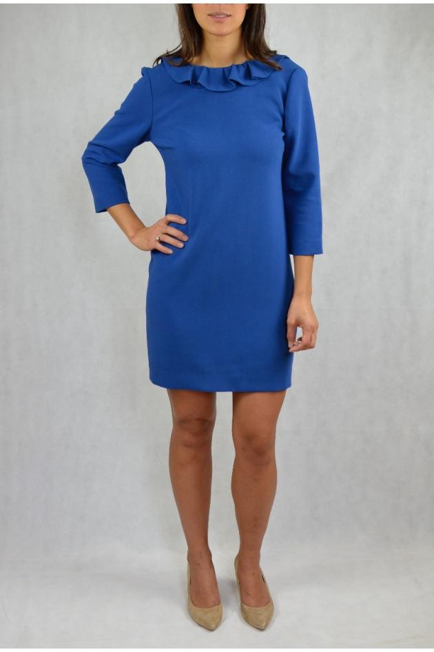 Robe courte bleue dos nu
